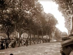 Evento nos jardins do Palácio, em 1905