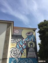 Edifício em frente à escola secundária Augusto Gomes (fachada oposta)