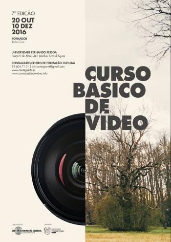Cartaz do Curso básico de vídeo