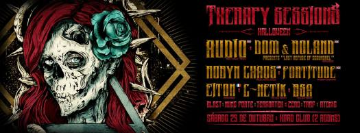 Cartaz de Therapy Sessions Halloween - Hard Club