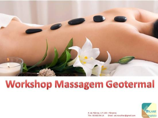 Cartaz do Workshop de Massagem Geotermal