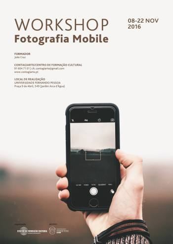 Cartaz do Workshop de Fotografia Mobile