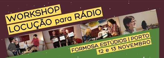 Cartaz do Workshop de Locução para Rádio